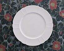 白色瓷碟餐具