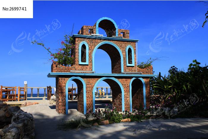 滨海石砖建筑图片,高清大图