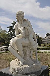 雕像山林女神宁芙