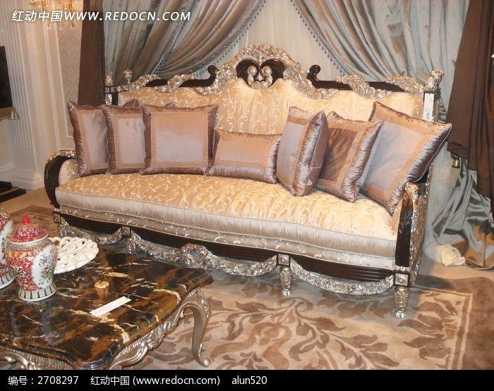 欧式古典客厅沙发_室内设计图片_红动手机版