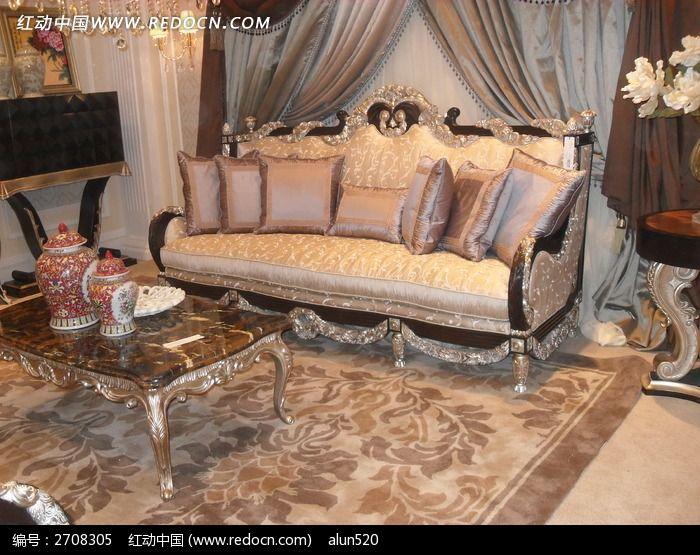 欧式的组合沙发图片,高清大图_时尚家居素材