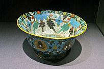 铜胎掐丝珐琅缠枝花卉碗