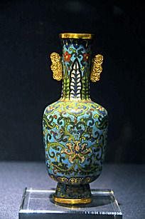 铜胎掐丝珐琅花卉纹瓶