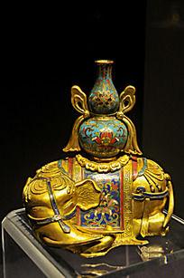 铜胎掐丝珐琅象托宝瓶