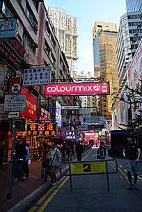 香港铜锣湾街头