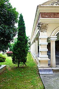 校园里文化长廊景观