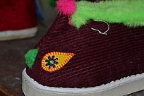 精致的宝宝鞋特写