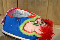 粉蓝色宝宝鞋侧拍