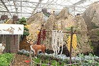 寿光菜博会上的农家小院与驯鹿