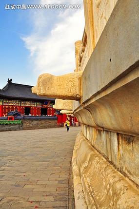 北京故宫天坛大理石墙壁