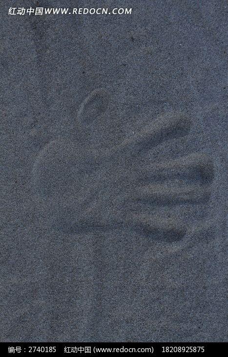 原创摄影图 自然风景 海洋沙滩 沙滩上的手印图片