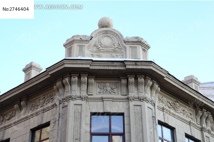 欧式建筑屋檐特拍图片图片