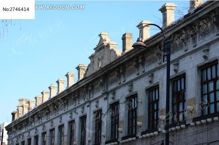 欧式白色现代建筑