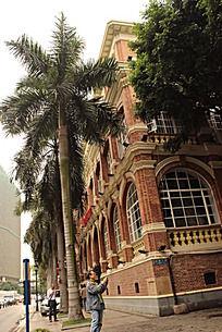 广州沙面的欧式酒店建筑