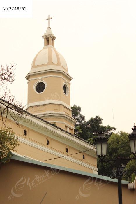 广州沙面欧式钟楼建筑图片