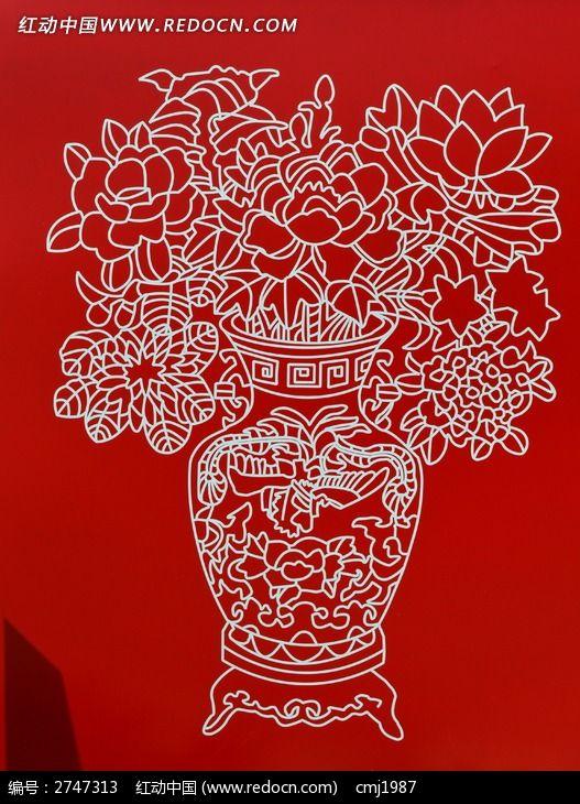 美丽的花瓶版画图片