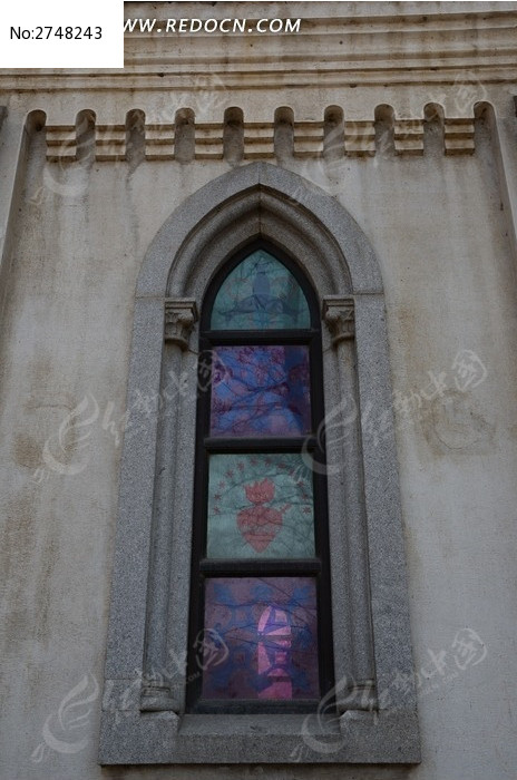 圣母教堂欧式窗户图片