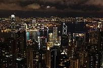 维多利亚港湾夜景
