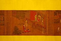 中国古代绘画画卷觐见
