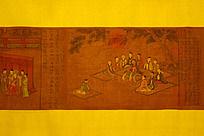 中国古风画卷局部