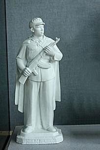 红军站岗雕刻