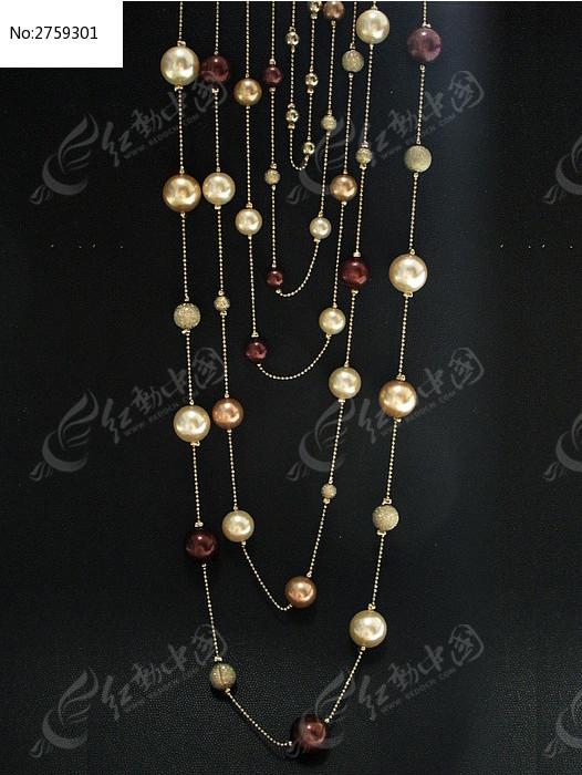 流光溢彩珠串项链高清图片下载 编号2759301 红动网图片