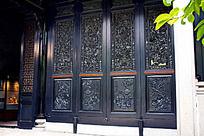 门雕刻装饰画
