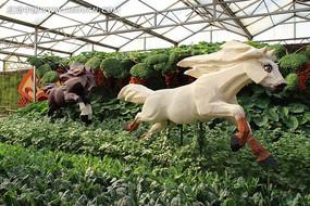 寿光菜博会雕塑之飞奔的马
