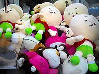抓娃娃机里的布艺玩偶
