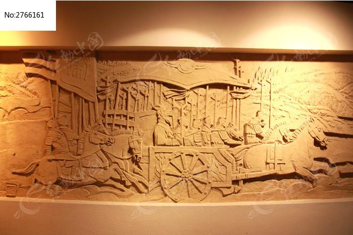 大秦文化沙雕艺术墙面图片