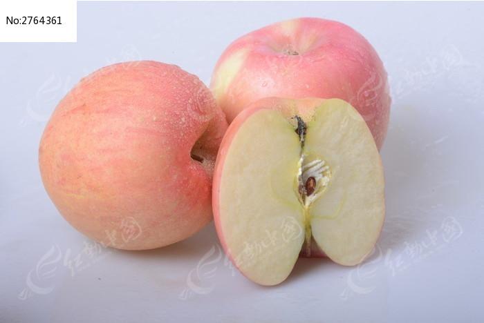 两个半苹果图片