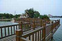 弥河公园里的木桥