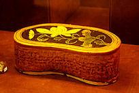 园形花纹陶瓷枕