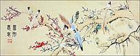 花鸟争鸣装饰画