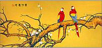 鹦鹉装饰画