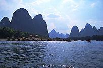 桂林山水20元人民币背景