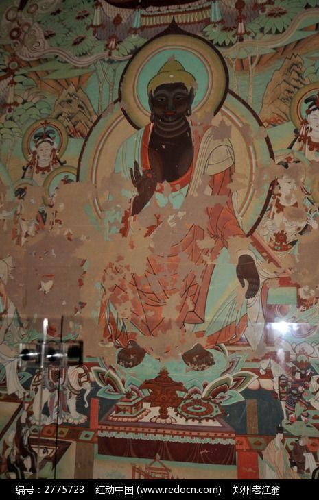 上海世博会的莫高窟如来佛祖画像图片