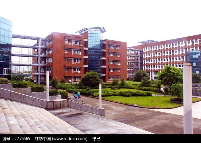 学校教学楼图片_建筑摄影图片