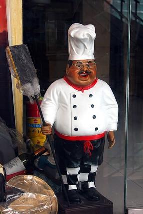 大厨人物雕塑