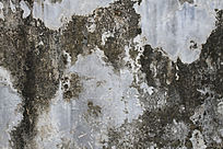长青苔的水泥墙贴图