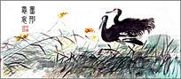 黑天鹅水墨