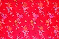 红色底纹  梅花纹  兰花花纹