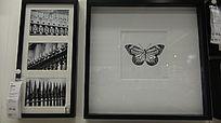 蝴蝶图案的相框