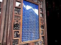 胡雪岩故居玻璃雕花图案