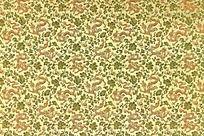 金绿色祥云 龙底纹  花纹图案