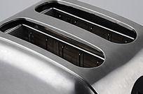 两片式拉丝不锈钢多士炉口部特写