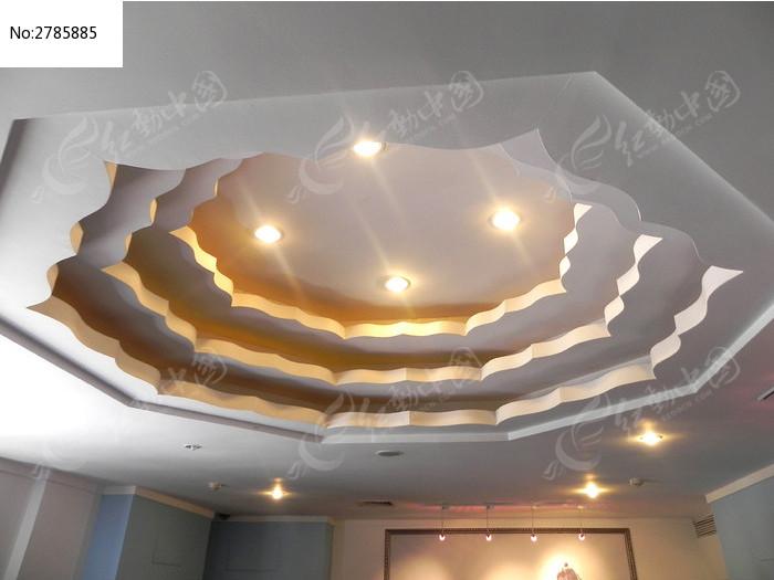 莲花吊顶装饰图片,高清大图