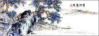 树木石头水墨画