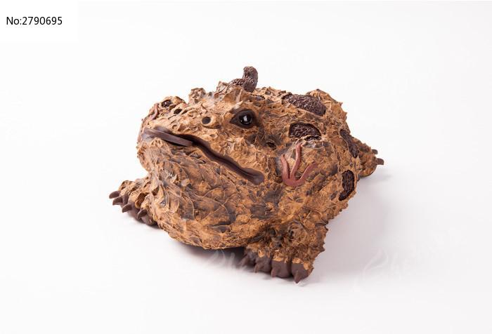 紫砂茶宠之树皮金蟾蜍