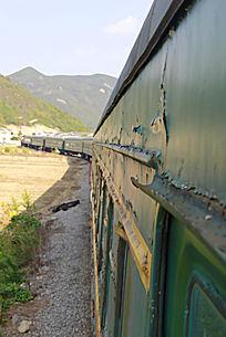 破旧的火车厢
